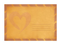 Vintage valentine background. With old paper Royalty Free Stock Photography