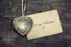 Vintage Valentine Background Photo libre de droits