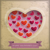 Vintage Valentine Background Stock Photo