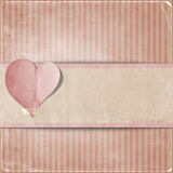 Vintage valentine background  with heart Stock Photos