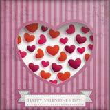 Vintage Valentine Background Stripes Royalty Free Stock Photos