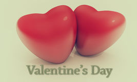 Vintage Valentine card Royalty Free Stock Photo
