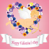 Vintage valentine card Stock Image