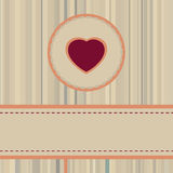Vintage valentine Card or package design. EPS 8 Stock Image