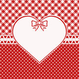 Vintage valentine card Royalty Free Stock Photo