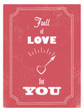 Vintage Valentine day card concept with love meter Stock Image
