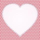 Vintage valentine heart Stock Image