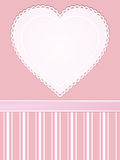 Vintage valentine heart background Royalty Free Stock Photo