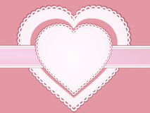 Vintage valentine heart label Royalty Free Stock Images