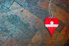 Vintage Valentine heart Stock Photo