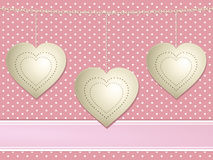 Vintage valentine hearts Royalty Free Stock Images