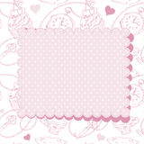 Vintage Valentine invitation postcard Royalty Free Stock Images