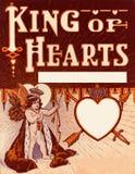 Vintage Valentine King of Hearts background stock illustration