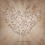 Vintage Valentine  love heart background Royalty Free Stock Photography