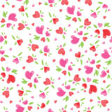 Vintage Valentine Pattern Royalty Free Stock Photography