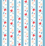 Vintage Valentine Pattern Royalty Free Stock Photo