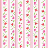 Vintage Valentine Pattern Royalty Free Stock Photos