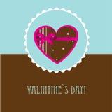 Vintage valentine`s card Stock Image