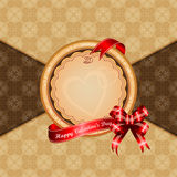 Vintage Valentine's Day background with Happy Valentine's Day text Royalty Free Stock Photography