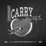 Vintage Valentines Day Card Design Stock Images