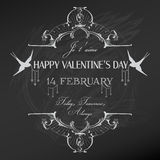 Vintage Valentines Day Card Design Royalty Free Stock Photography