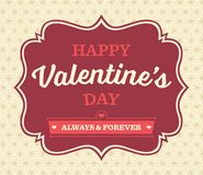 Vintage Valentine's Day Card Royalty Free Stock Photography
