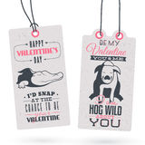 Vintage Valentine's Day Gift Tags Royalty Free Stock Image