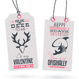 Vintage Valentine's Day Gift Tags Stock Image