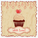 Vintage Valentine's day greeting card. Royalty Free Stock Photo