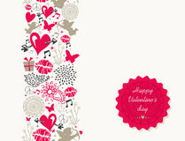Vintage Valentine`s day greeting card Stock Photos