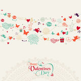 Vintage Valentine`s day postcard design Royalty Free Stock Images