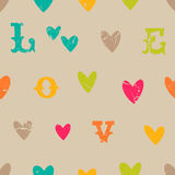 Vintage valentine seamless pattern Royalty Free Stock Photos