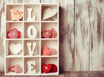 Vintage valentine set Royalty Free Stock Image