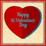 Vintage Valentines Day background. Stock Image