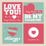 Vintage Valentines Day banner set Royalty Free Stock Photography