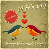 Vintage Valentines Day Card Royalty Free Stock Photos