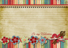 Vintage Valentines day card Stock Photography
