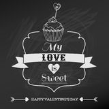 Vintage Valentines Day Card Stock Photos