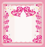 Vintage Valentines Day card Royalty Free Stock Image