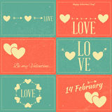 Vintage Valentines Day Cards Royalty Free Stock Image