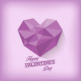 Vintage valentines day with geometrical heart purple Royalty Free Stock Images