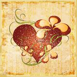 Vintage valentines day greeting card Royalty Free Stock Photos