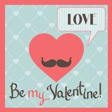 Vintage Valentines Day greeting card with heart Stock Photo