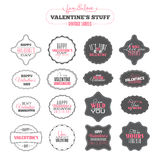 Vintage Valentines day labels Stock Images