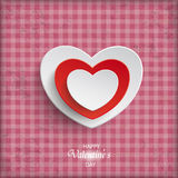 Vintage Valentines Day Template Stripes Hearts Stock Photos