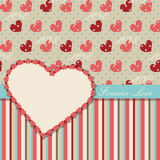 Vintage Valentines Design Template with hearts and Royalty Free Stock Photos