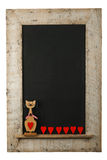 Vintage Valentines Love Cat Chalkboard Reclaimed Wood Frame Isol Royalty Free Stock Photo