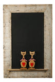 Vintage Valentines Love Cats Chalkboard Reclaimed Wood Frame Iso Stock Photography