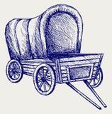 Vintage van to transport Royalty Free Stock Image
