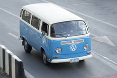 Vintage van Volkswagen. On the road city thailand stock image